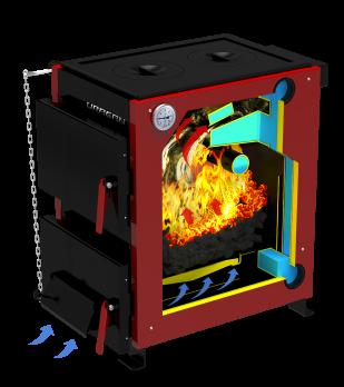 Котел твердотопливный отопительный URAGAN («Ураган») 14 кВт