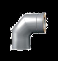 Отвод 90° для Сэндвич d 115/200 нерж 0.8 мм + оцинк