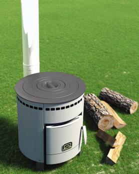 Печь для дома Печурка с набором чугунных колец