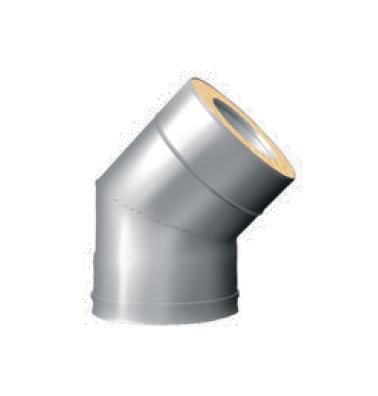 Отвод 45° для Сэндвич d 115/200 нерж 0.8 мм + оцинк