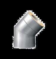 Отвод 45° для Сэндвич d 150/210(230) нерж 0.8 мм + оцинк