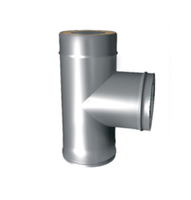 Тройник 90° для Сэндвич d 150/210(230) нерж 0.5 мм + цинк