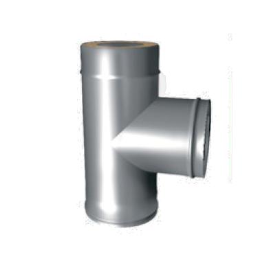 Тройник 90° для Сэндвич d 150/210(230) нерж 0.8 мм + цинк